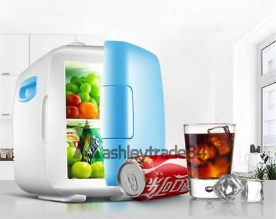 vehicle-mounted Dorm Room Office Kitchen Mini Refrigerator Fridge 4L wathet blue