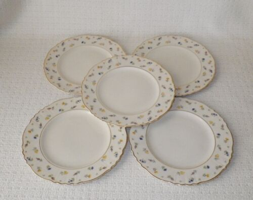 Syracuse China Suzanne Salad Plates Federal Shape~ Set of 5