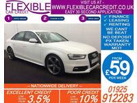 2012 AUDI A4 1.8 TFSI BLACK EDITION GOOD / BAD CREDIT CAR FINANCE AVAILABLE
