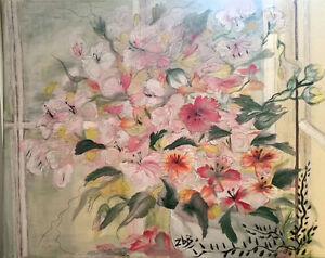 Gorgeous Floral Painting, original, signed.