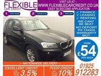 2011 BMW X3 2.0 TD XDRIVE20D SE GOOD / BAD CREDIT CAR FINANCE FROM 54 P/WK
