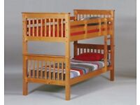 BRAZILIAN SOLID WOOD Brand New Wooden Bunk Bed Available With Mattress Port Royal