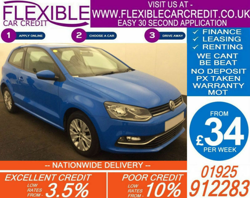 2014 VW POLO 1.0 SE GOOD / BAD CREDIT CAR FINANCE AVAILABLE