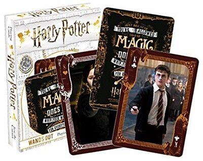 Harry Potter Zauberstäbe aus Set 52 Spielkarten + Jokers (NM)
