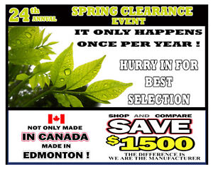 HOT TUB only $3,988 YEAR END CLEAR OUT - Spa's made in Edmonton