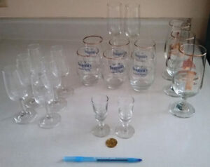 Various glassware. Very small to large. No damage.