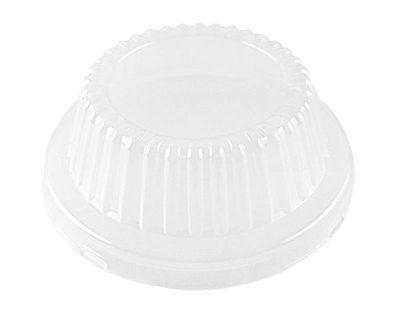Clear Plastic Dome Lid For 5-34 Meat Pot Pie Aluminum Foil Pan - 25 Lids