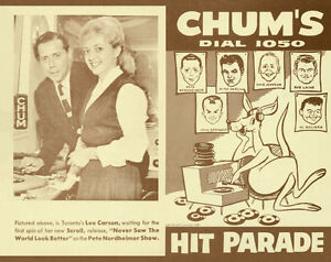 Buying **CHUM HIT PARADE CHARTS** from 1957-1965