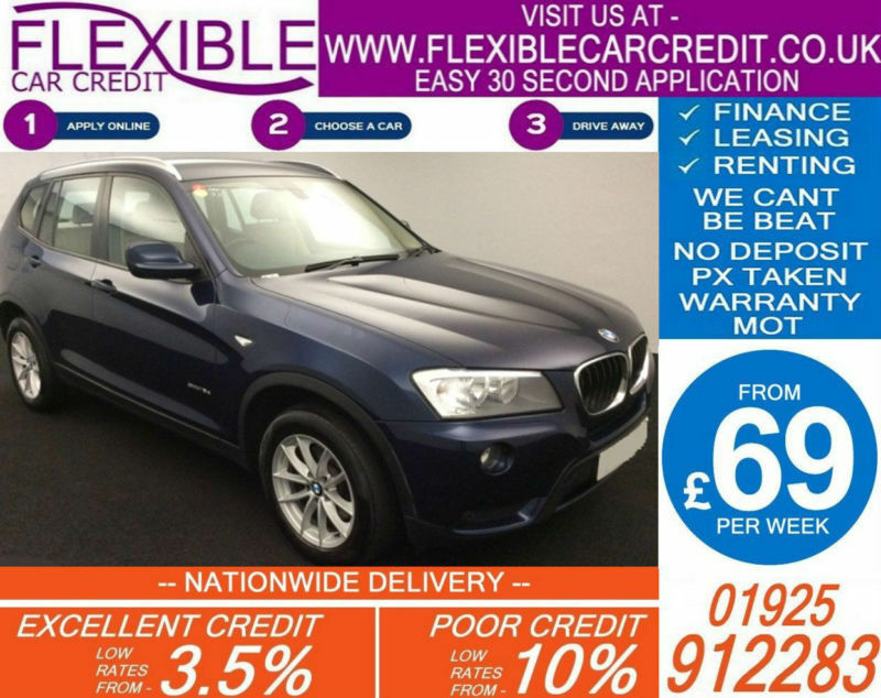 2013 BMW X3 2.0 TD SDRIVE SE GOOD / BAD CREDIT CAR FINANCE AVAILABLE