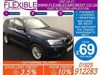 2013 BMW X3 2.0 TD SDRIVE SE GOOD / BAD CREDIT CAR FINANCE AVAILABLE