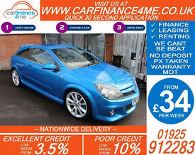 2007 VAUXHALL ASTRA 2.0 VXR GOOD / BAD CREDIT CAR FINANCE FROM 34 P/WK