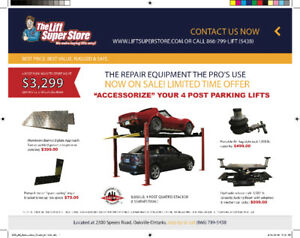 Four Post Parking Lift Accessories Now on Sale!
