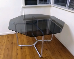 Dining Table - Smoked Glass