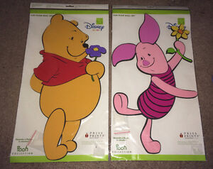 WINNIE THE POOH & PIGLET 3 FOOT FOAM WALL ART/DECAL $10 for both