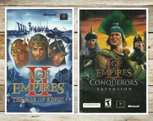 MANUAL (double)  - Age of Empires 2 II The Age of Kings & the Co