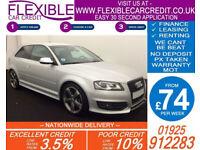 2012 AUDI S3 2.0 QUATTRO BLACK EDITION GOOD / BAD CREDIT CAR FINANCE AVAILABLE