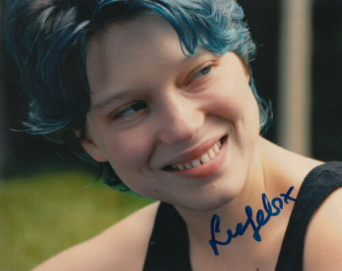 LEA SEYDOUX.. Blue Is The Warmest Color's Emma - SIGNED