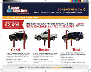Two Post Car Lifts on Sale from $2699