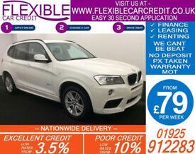2013 BMW X3 2.0 TD XDRIVE20D M-SPORT GOOD / BAD CREDIT CAR FINANCE AVAILABLE