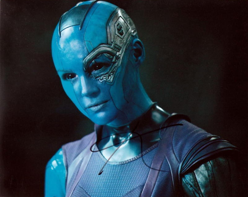 KAREN GILLAN.. Guardians Of The Galaxy- SIGNED