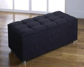 Storage box /pouffe sofa black