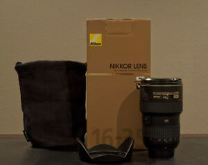 mint nikon AF S 16 35 G ED N VR II wide angle in box