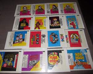 WRAPPERS CARTES NON-SPORT MAN ON THE MOON-STAR WARS ETC