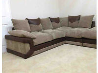Lovely cord corner sofa - able to deliver too