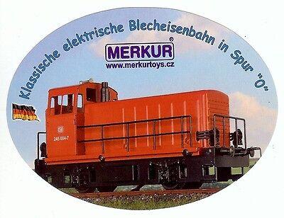 Aufkleber Merkur (Modellbahn Tschechien) Diesellok BR 245,Spur 0 Blecheisenbahn