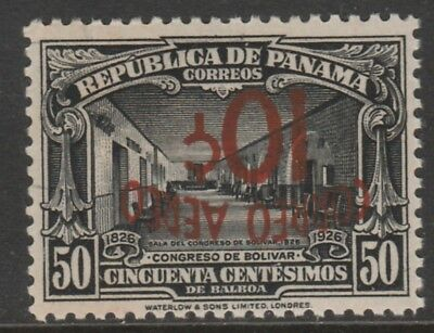 Panama 6066 - 1937  AIR 10c on 50c SURCHARGE NVERTED unmounted mint