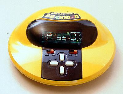 """Netz-unabhängige """"Tabletops"""" mit LED oder LCD, hier Tomys """"Puckman"""", boomen in den 1980ern. (© Gameplan.de)"""