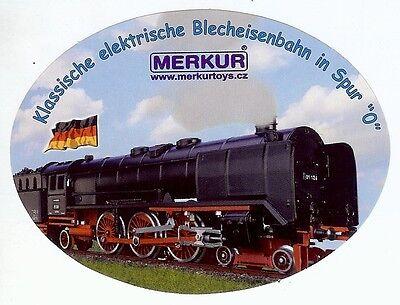 Aufkleber Merkur (Modellbahn Tschechien) Dampflokomotive, Spur 0 Blecheisenbahn