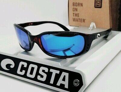 580G COSTA DEL MAR tortoise/blue mirror BRINE POLARIZED sunglasses! NEW IN (Tortoise Sunglasses)