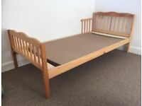 Child's bed with organic mattress