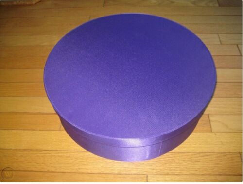 PRINCE PAISLEY PARK PURPLE ROUND BOX- NEW GIFT HAT BOX - BOX ONLY