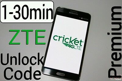 Unlock Code CRICKET ZTE Z832 Z851 Z983 Z813 Z815 Z987 Z956 Z959 Z988 Z740g