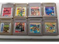 Job lot of Gameboy games including 4 Mario games and original Tetris