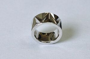 Authentic-Movado-Sterling-Silver-Ring-SS-Triangle-Band-Ring-Size-4-5