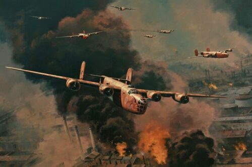 To Hell and Back by Anthony Saunders signed by Ploesti B-24 Veterans