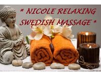> Nicole RELAXING SWEDISH MASSAGE in the centre <