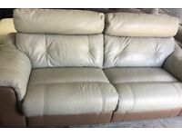 DFS Carello Leather 3 seater recliner sofa