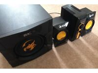 High Quality GX Gaming Speakers and Subwoofer - QUICK SALE