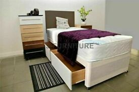 💫 ⭐️BRAND NEW DIVAN SINGLE-DOUBLE-SMALL DOUBLE & KING SIZE BED BASE w MATTRESSES💫 ⭐️