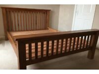 King Size Solid Oak Bed