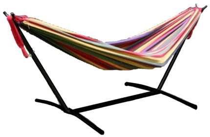 double hammock with steel frame  multi red or multi blue  adventuridge double hammock   brand new   lounging  u0026 relaxing      rh   gumtree   au