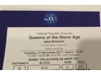 Queens of the Stone Age O2 Arena Tue 21st 2 tickets FACE VALUE!