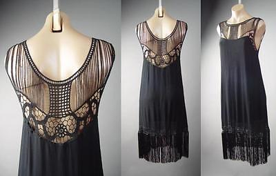 Black Fringe 20s Flapper Dance Great Gatsby Theme Party 236 mv Dress 1XL 2XL 3XL](1920s Themed Dress)