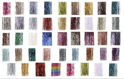 Lametta -- 40 Farben -- Gold Blau Violett Rot Rosa Silber Grün --- 40x50/100 cm