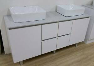 1500 mm OR 1800 mm Vanity WITH STONE - FLOOR (HANDLES) Footscray Maribyrnong Area Preview