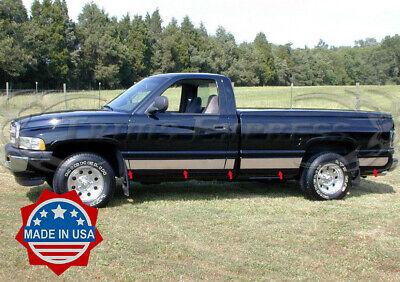"fits 1998-2001 Dodge Ram Regular Cab Long Bed Rocker Panel Trim 5.5"" Stainless"